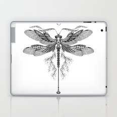 Dragon Fly Tattoo Black and White Laptop & iPad Skin
