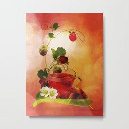 Erdbeertee Metal Print