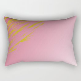 gold lines on pinks Rectangular Pillow