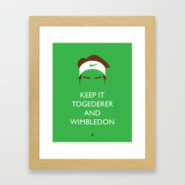 Roger Federer: Keep Calm Framed Art Print