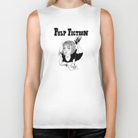 pulp Biker Tanks featuring Pulp Fiction by ☿ cactei ☿