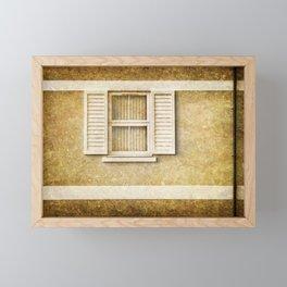White shutters Framed Mini Art Print