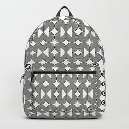 Piece of Pie Black on White Backpack