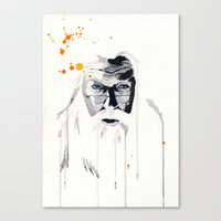 dumbledore Canvas Prints featuring Dumbledore by Tove Bergqvist