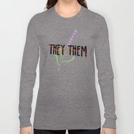 THEY / THEM: Lavender Long Sleeve T-shirt