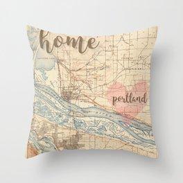 Love Portland OR Throw Pillow