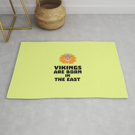 Vikings are born in the East T-Shirt D37dx Rug