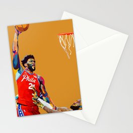 Basketball Player Sports Star Embiid  Stationery Cards