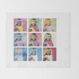 Celia Cruz Pop Art - The Immortal Queen of Salsa - Magical Realism Throw Blanket