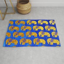 Golden elephant ecopop Rug