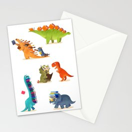 BOOK DINOSAURS Stationery Cards