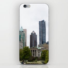 Vancouver from Robson Square iPhone Skin