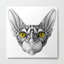 Ornate Sphynx Cat Metal Print