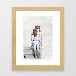 Punky Géraldine Framed Art Print
