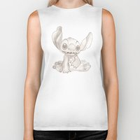 lilo and stitch Biker Tanks featuring Stitch  by Nic Moore