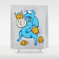 cookies Shower Curtains featuring Cookies by MOONGUTS (Kyle Coughlin)