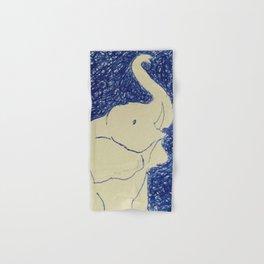 Elephant Doodle # 2 Hand & Bath Towel