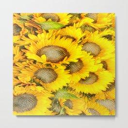 SUNFLOWERS-211218/1 Metal Print