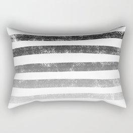 Thick Ombre Stripes (black/white) Rectangular Pillow