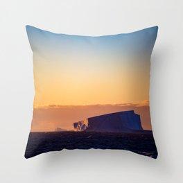 Sunset Iceberg Throw Pillow