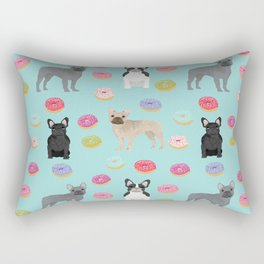 French Bulldog donuts cute dog breed must have gifts for frenchie owners Rectangular Pillow