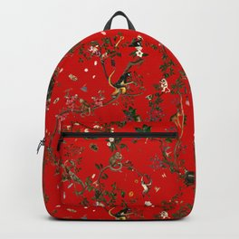Monkey World Red Backpack