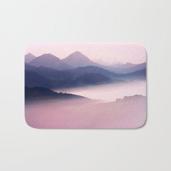 Foggy Mountains II Bath Mat