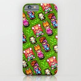 Secret of Mana sprites pattern   retrogaming nostalgia iPhone Case