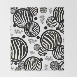 Zebra Circles Throw Blanket