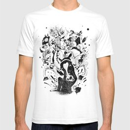 The Great Horse Race! B&W Edition T-shirt