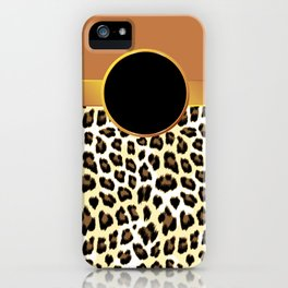 Gold Leopard Print with Rosette iPhone Case