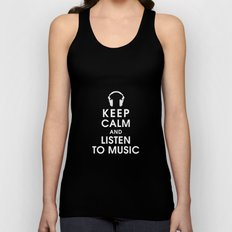 Keep Calm and Listen to Music Unisex Tank Top