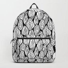 Vagina - Rama, White and Black Backpack