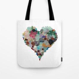 Love - Original Sea Glass Heart Umhängetasche