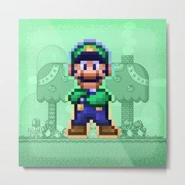 Luigi Bro Metal Print
