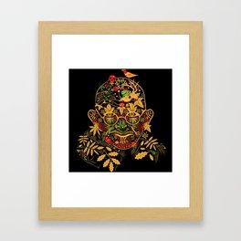 Gandhi Psychedelic Khokhloma Framed Art Print