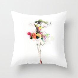 woman fashion Throw Pillow