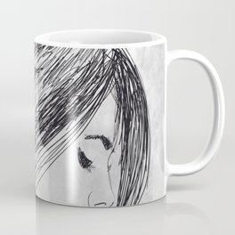 Hand drawn beautiful woman Coffee Mug