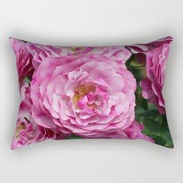 Bright Pink Roses Rectangular Pillow