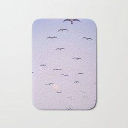 Seagulls & Moon by Murray Bolesta Bath Mat