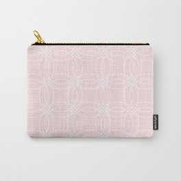 Simply Vintage Link White on Pink Flamingo Carry-All Pouch