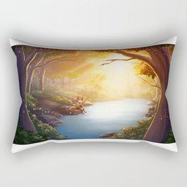 The Fishing Pool Rectangular Pillow