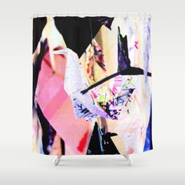 Paper Cranes Shower Curtain