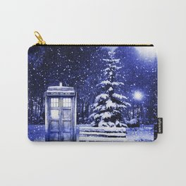 Tardis In The Snow Carry-All Pouch
