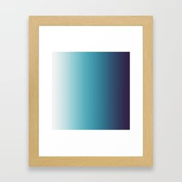 Blue White Gradient Framed Art Print