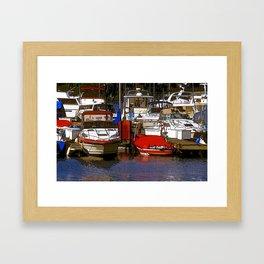 SE Seattle Marina Framed Art Print