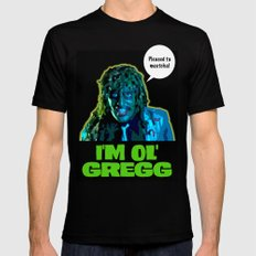 Old Gregg Mens Fitted Tee Black X-LARGE