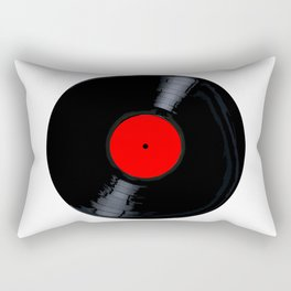 Blank Red Record Label Rectangular Pillow