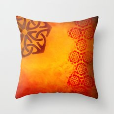 Abstract heat Throw Pillow