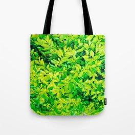 hojas verdes Tote Bag